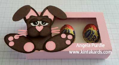 Easter egg treat box with buster the punch art bunny negle Choice Image